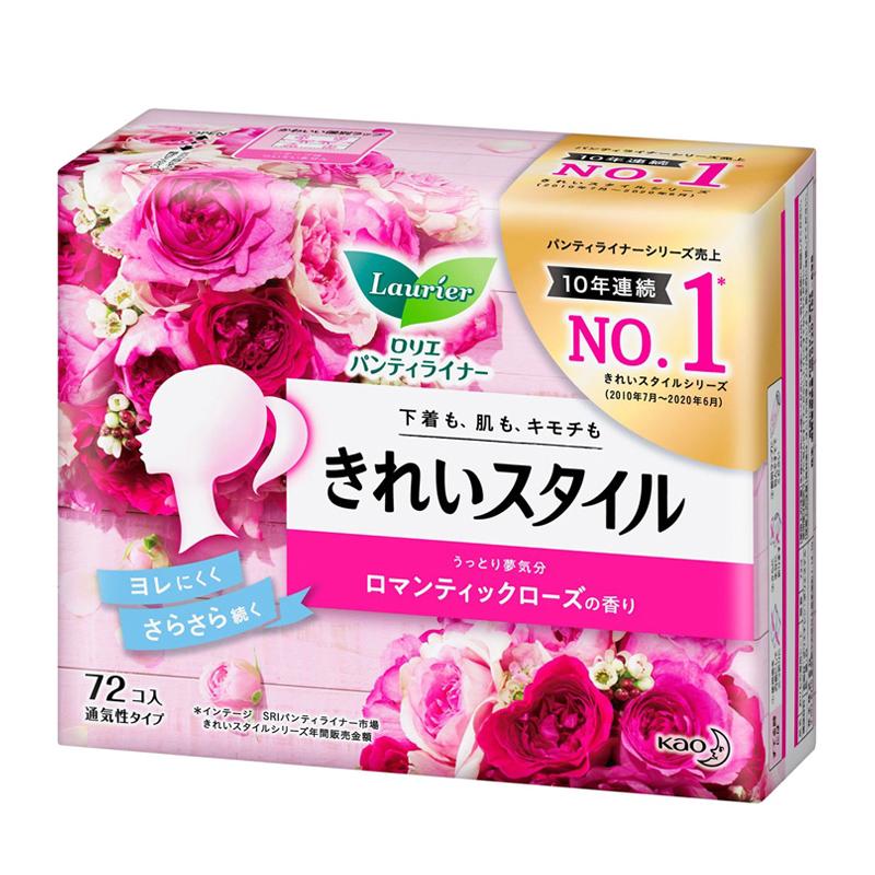 Băng vệ sinh hàng ngày Laurier Nhật Bản 72 miếng (Romantic Rose)