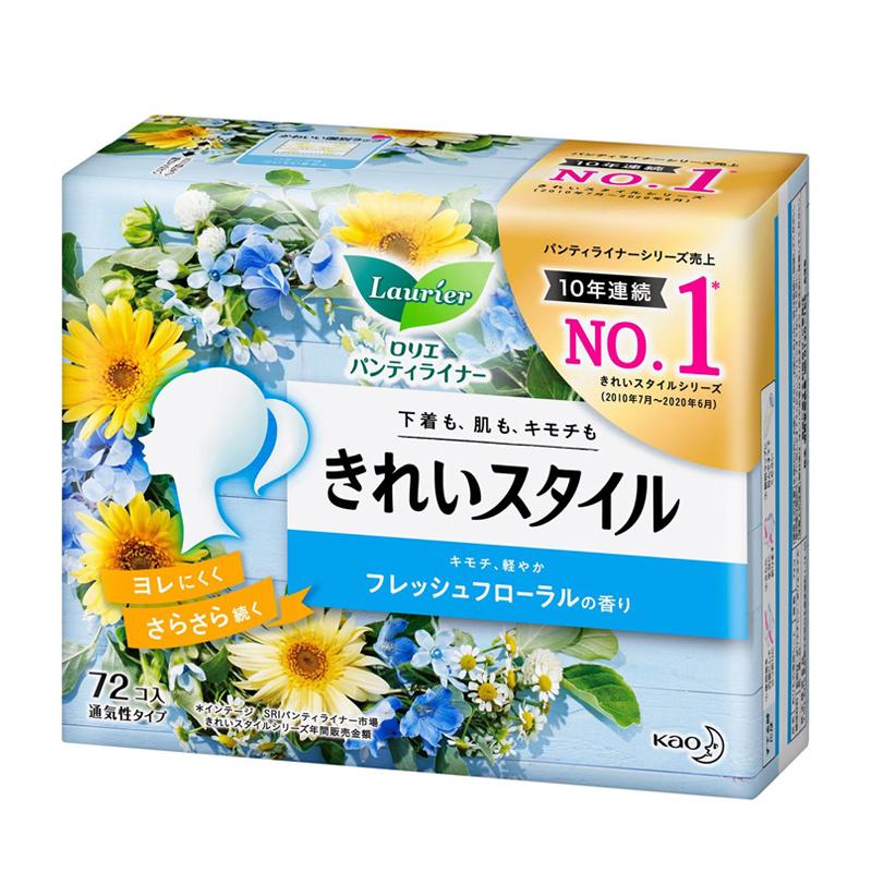 Băng vệ sinh hàng ngày Laurier Nhật Bản 72 miếng (Fresh Floral)