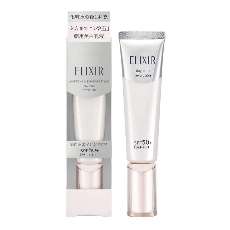 Kem dưỡng chống nắng Shiseido Elixir Whitening Day Care Revolution SPF50//PA++++