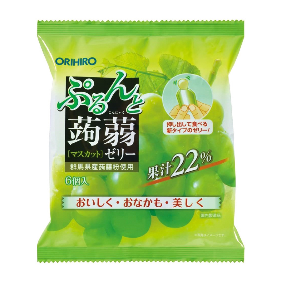 Thạch trái cây Orihio vị nho xanh 20gx6
