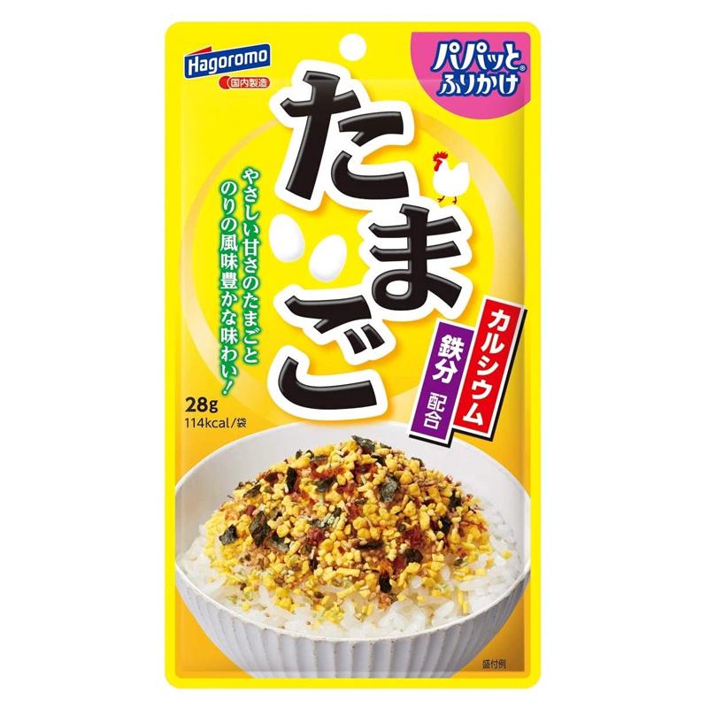 Gia vị rắc cơm trứng và rong biển Hagoromo Foods 28g