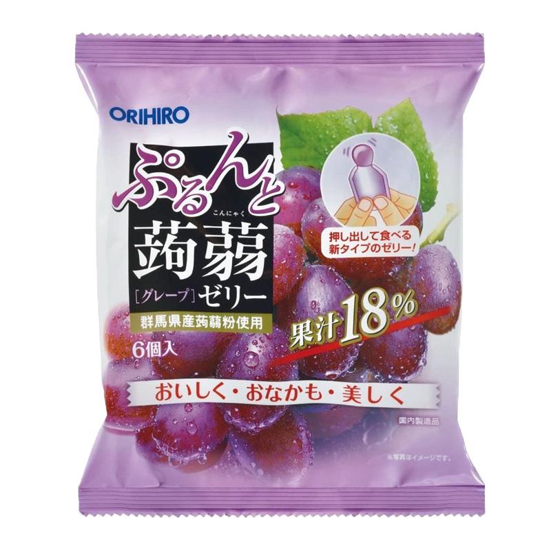 Thạch trái cây Orihiro vị Nho tím 20gx6 cái