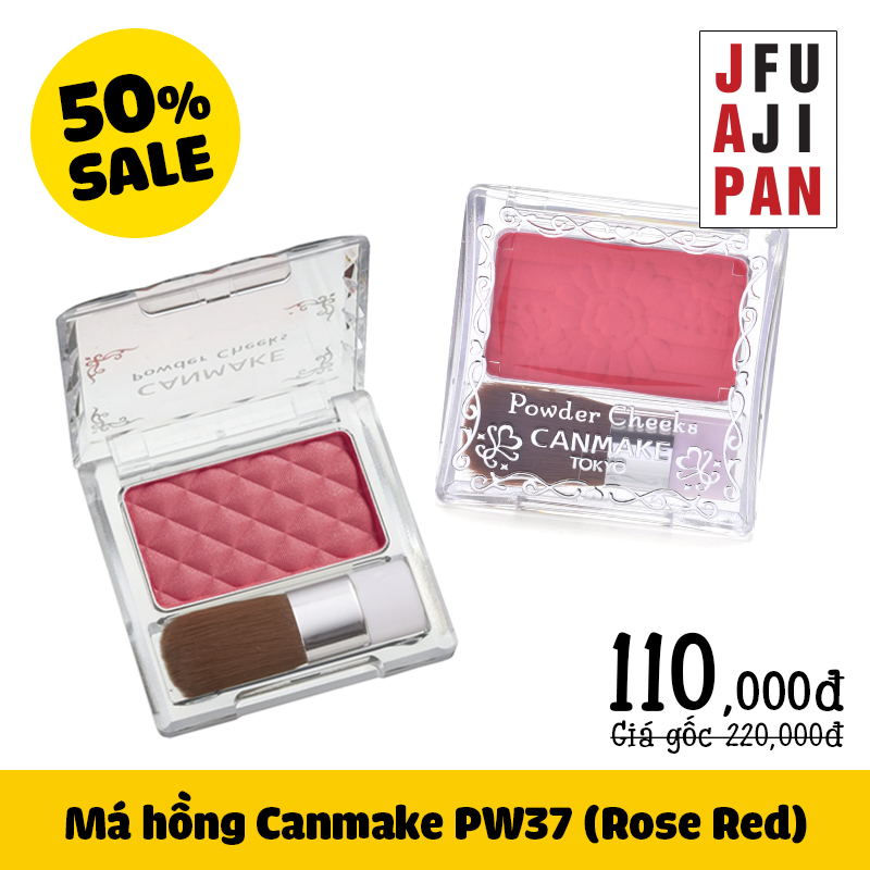 Phấn má Canmake Rose Red PW37 4.4g