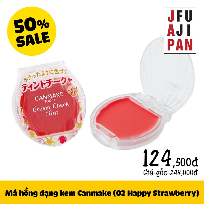 Má hồng djang kem Canmake số 02 Happy Strawberry