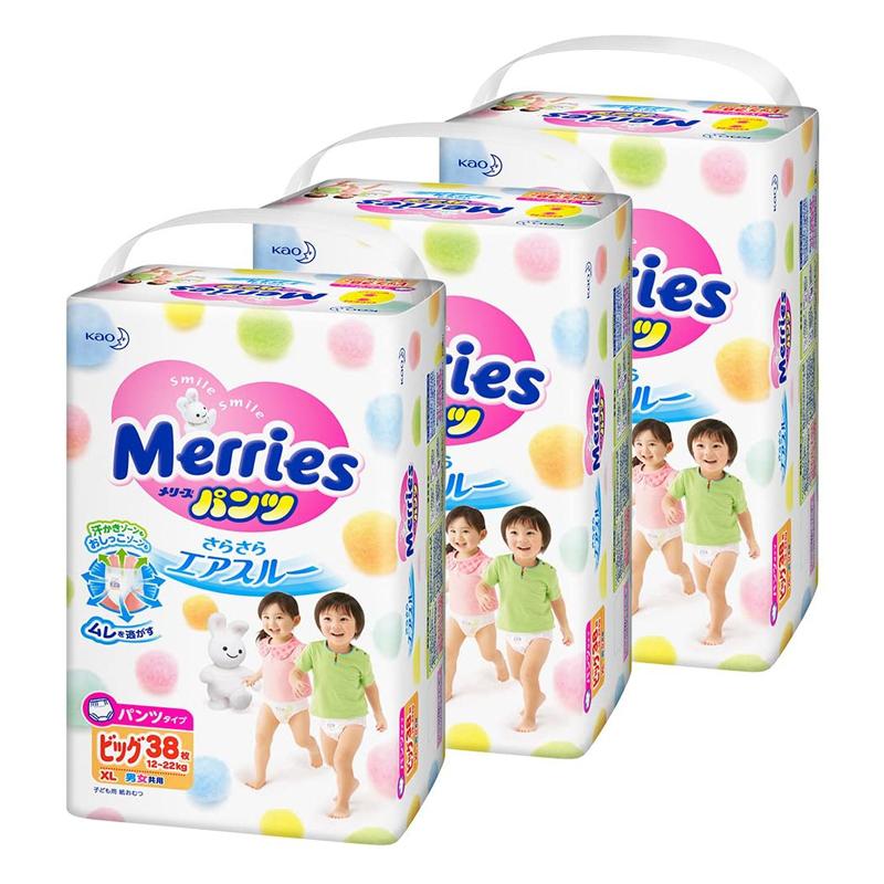 Tã quần Merries size XL 38 miếng từ 12-22kg