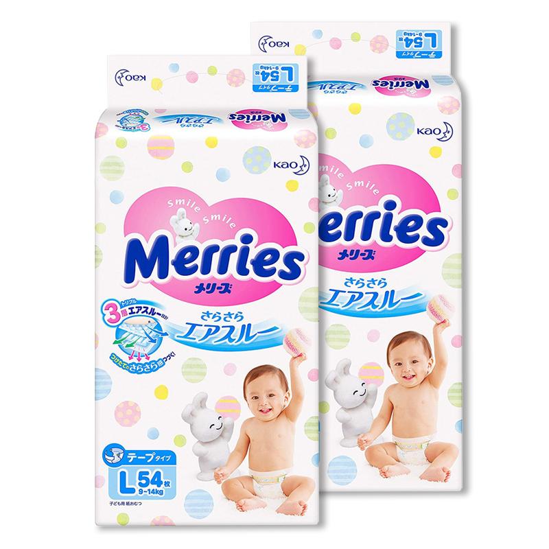 Tã dán Merries size L 54 miếng từ 9-15kg