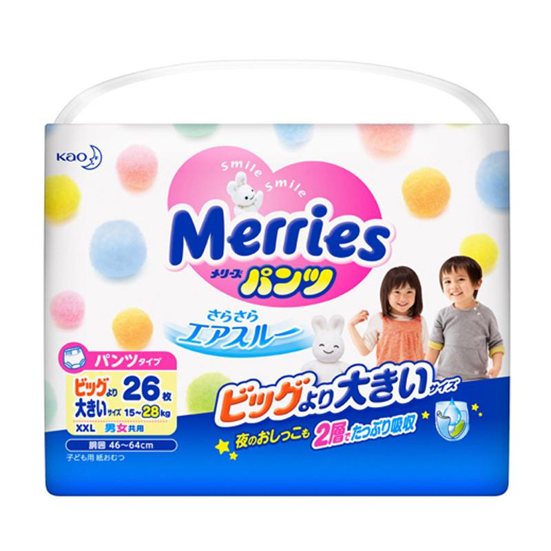 Tã quần Merries size XXL 24 miếng từ 15-28kg