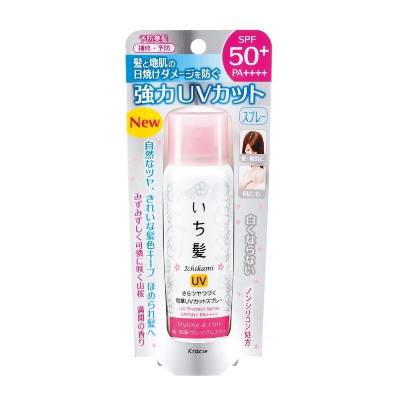 Xịt bảo vệ tóc chống nắng Ichikami UV Protect SPF50+/PA++++ 50g