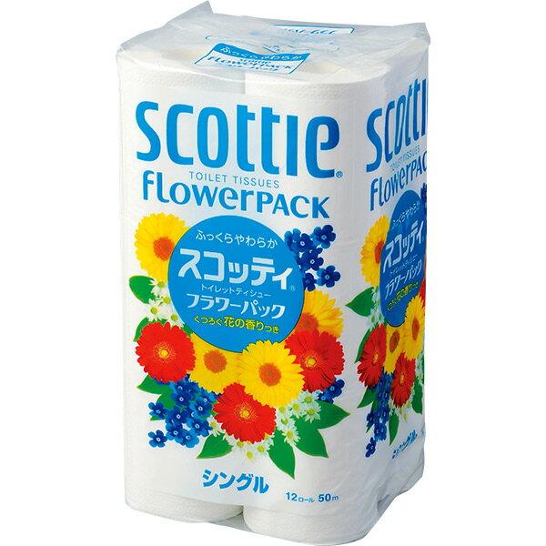 Lốc 12 cuộn khăn giấy Scottie Flower Pack