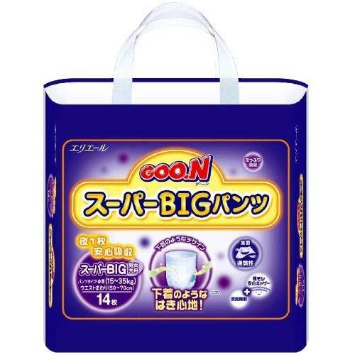 Tã quần cho bé GOON Super BIG 14 miếng (15-35kg)