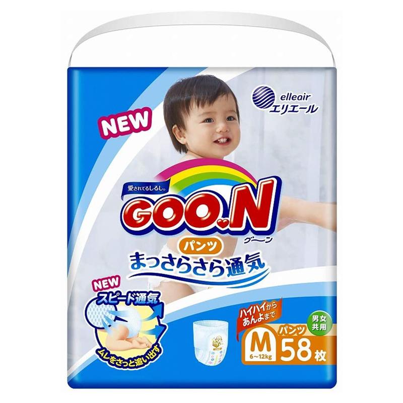 Tã quần cao cấp GOON size M jumbo 58 miếng (từ 6-12kg)