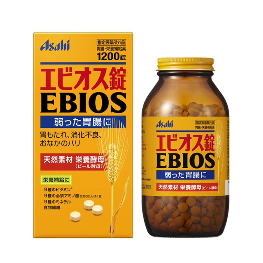 Viên uống hỗ trợ tiêu hóa lên men từ lúa mạch Asahi EBIOS 1200v