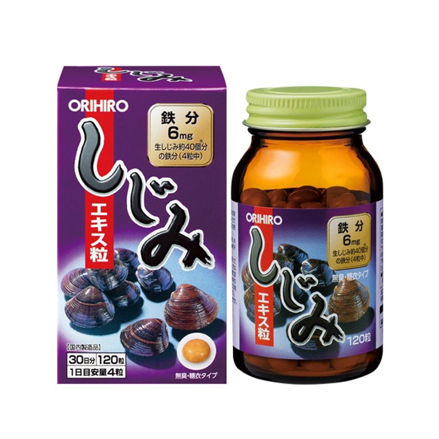 Viên uống bổ sung sắt tăng cường thể lực Orihiro Shijimi Extract 120v