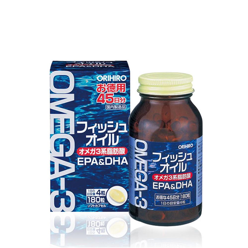 Viên uống Orihiro bổ sung dầu cá Omega 3 hũ 180v