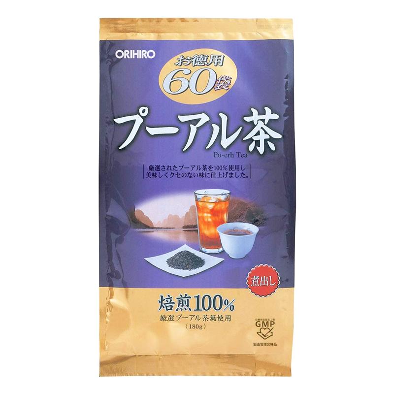 Trà phổ nhĩ Pu'er Tea Orihiro 3g x 60 gói
