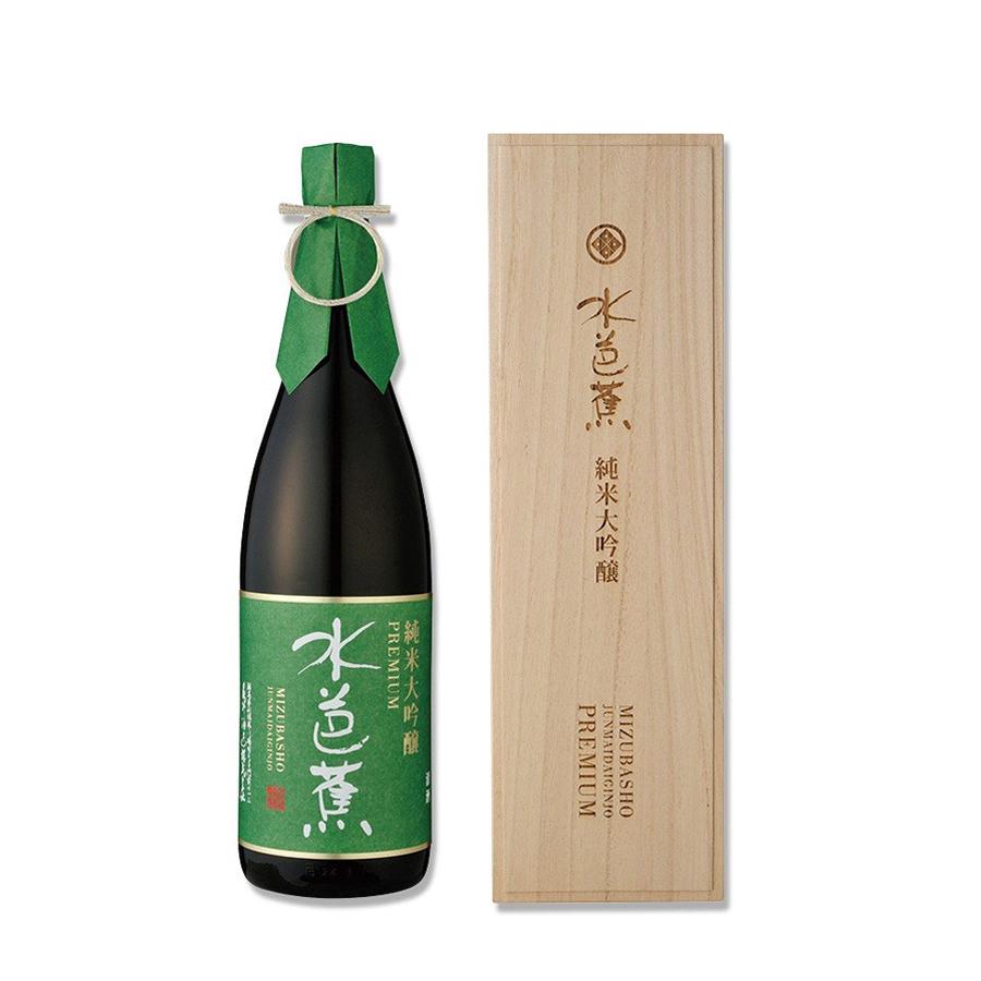 Rượu sake Junmai Daiginjo Mizubasho Premium 1800mL