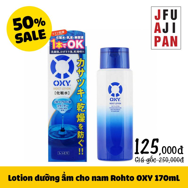 Lotion dưỡng ẩm cho nam Rohto Oxy Men's 170mL
