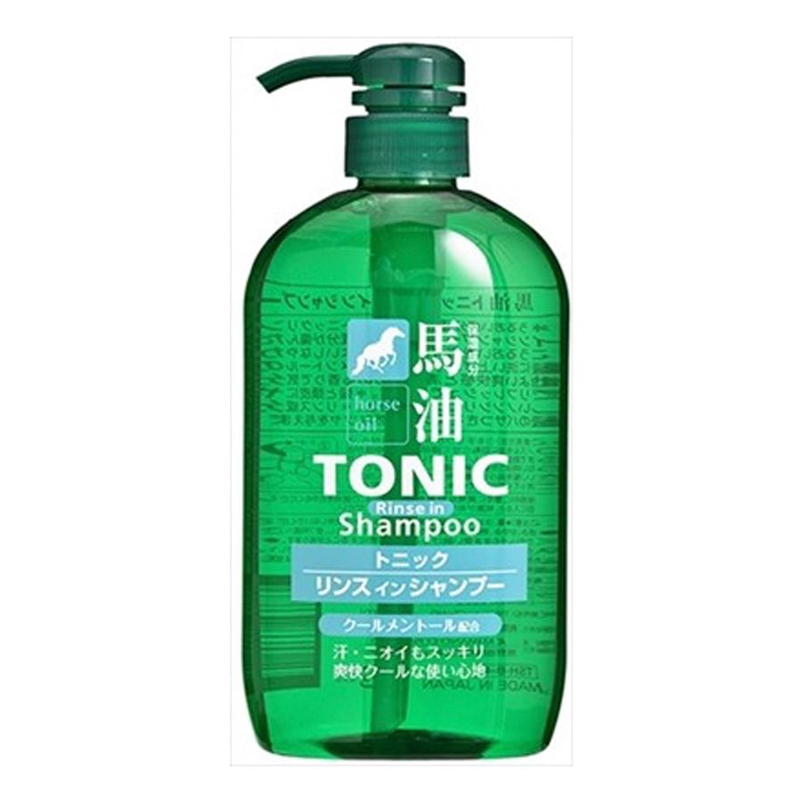 Dầu gội mỡ ngựa Kumano Horse Oil Tonic Rinse In 600mL