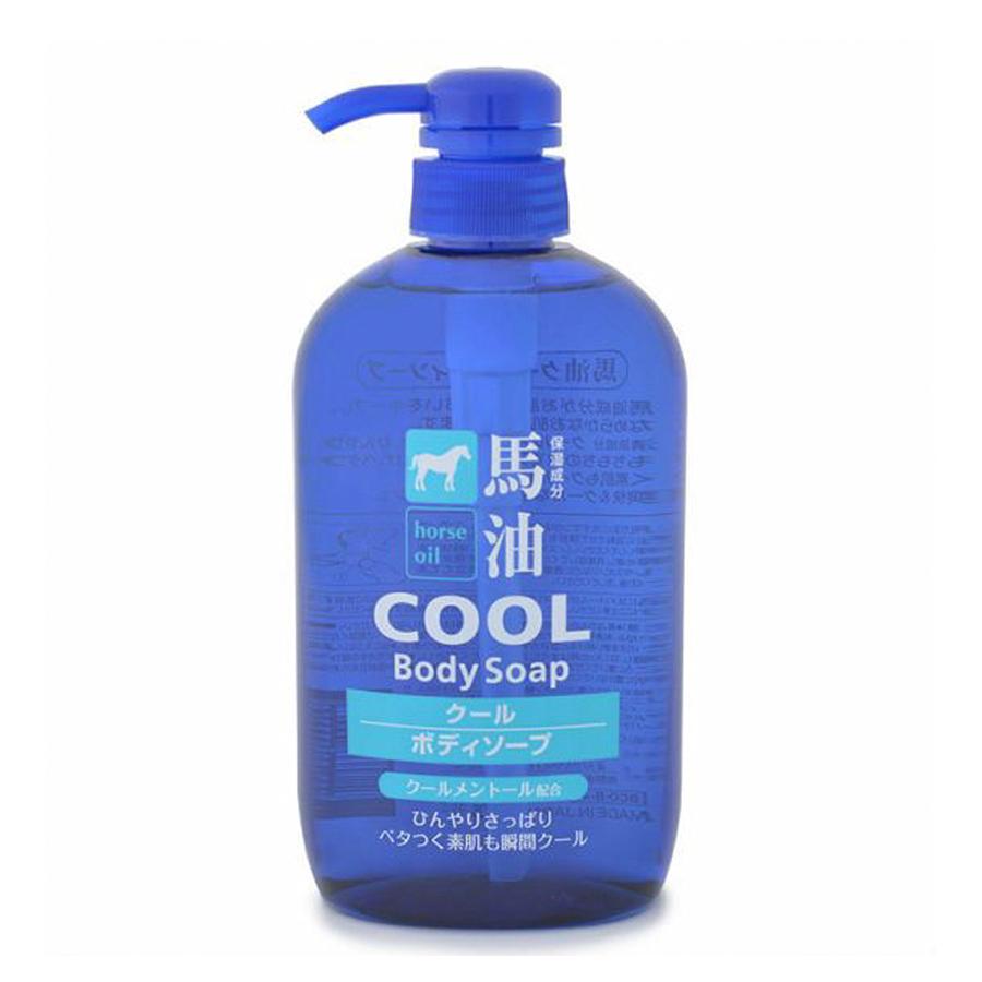 Sữa tắm mỡ ngựa Kumano Horse Oil Cool Body Soap 600mL