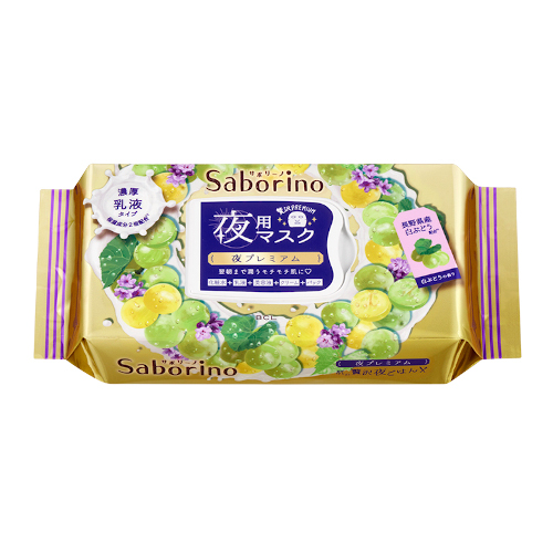 Mặt nạ dưỡng da buổi tối Saborino White Grape 28 sheets